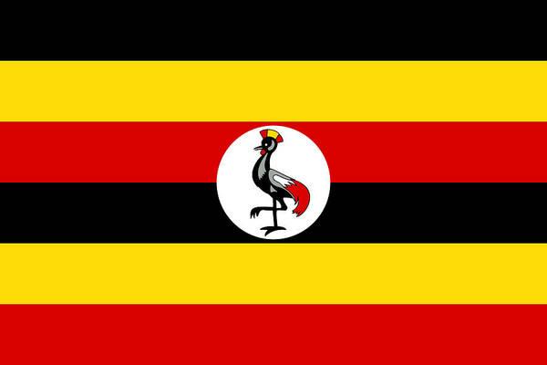 Uganda Painting - Uganda by Flags