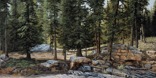 Wall Art - Painting - Uinta Mountains 1 by Artell Harris