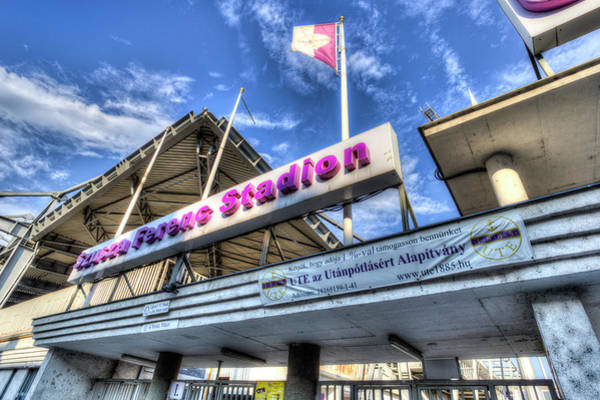 Wall Art - Photograph -  Ujpest Fc Club Stadium Budapest  by David Pyatt