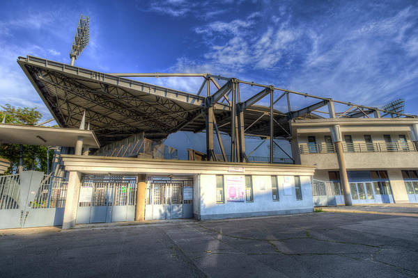Wall Art - Photograph -  Ujpest Fc Stadium  by David Pyatt