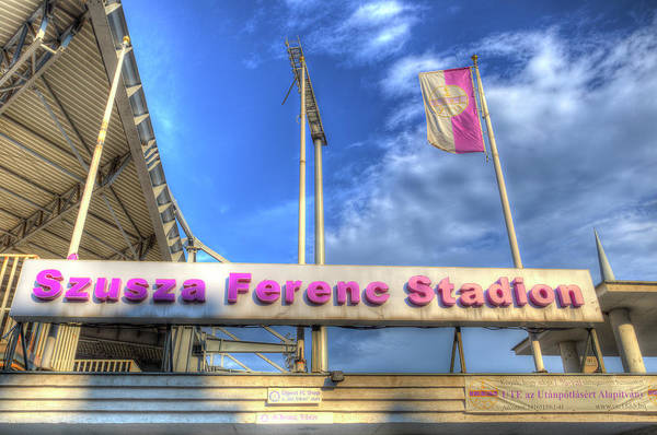 Wall Art - Photograph -  Ujpest Football Stadium  by David Pyatt