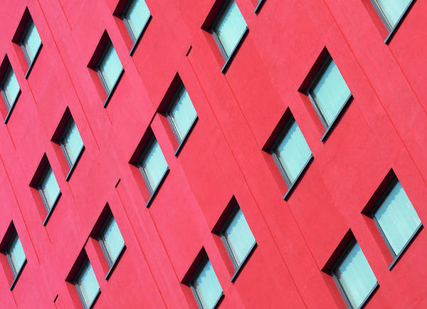Wall Art - Photograph - Uk, Birmingham, Windowed Facade Of The by Michael Betts