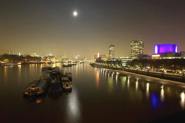 South Bank Photograph - Uk, England, London, River Thames And by Davis Mccardle
