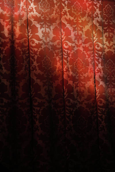 Brocade Photograph - Uk, England, Oxford, Light On Red Fabric by Westend61