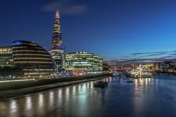 Wall Art - Photograph - Uk, London South Bank Of The Thames by Rob Tilley