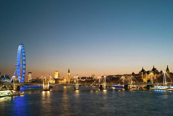 Houses Of Parliament Wall Art - Photograph - Uk, London, View Along River Thames by Gary Yeowell