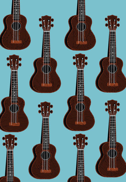 Painting - Ukulele Blues  by Cecely Bloom