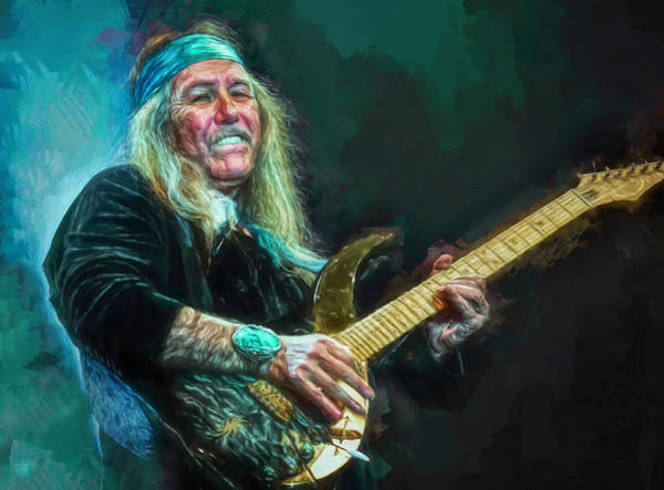 Thrash Metal Wall Art - Mixed Media - Uli Jon Roth by Mal Bray