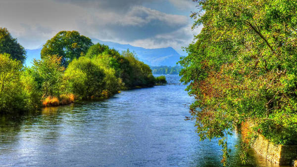 Pooley Bridge Wall Art - Photograph - Ullswater From Pooley Bridge  by Chris Gill