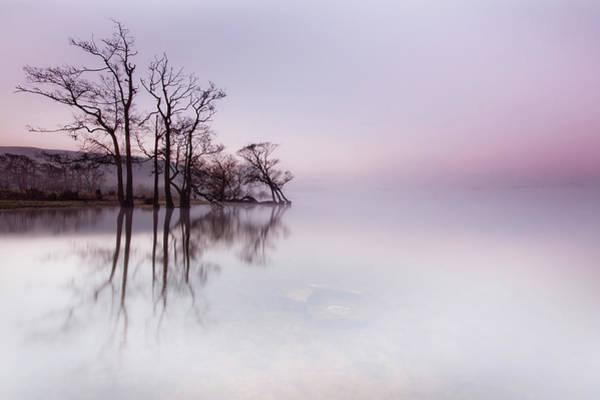 Ullswater Photograph - Ullswater Mist At Sunrise by Anita Nicholson