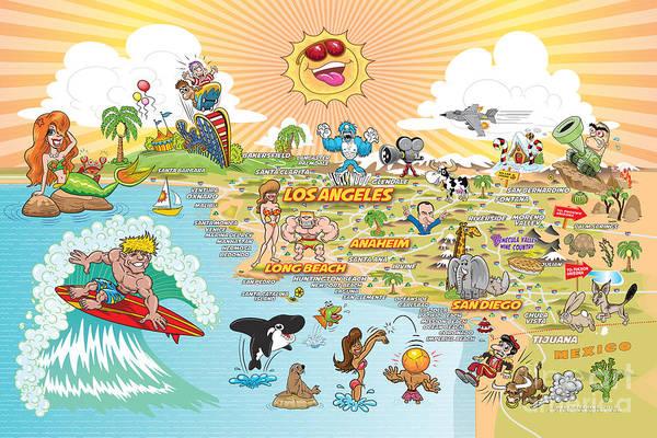 Laguna Beach Mixed Media - Ultimate Sunny California Beach Paradise by Dave Stephens