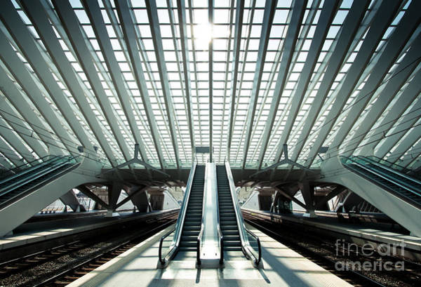 Ultra Modern Train Station In Liege Art Print