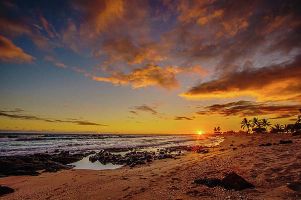Photograph - Ultra Wide Sunset Beach View by John Bauer