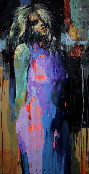 Wall Art - Painting - Ultramarine Dress by Viktor Sheleg