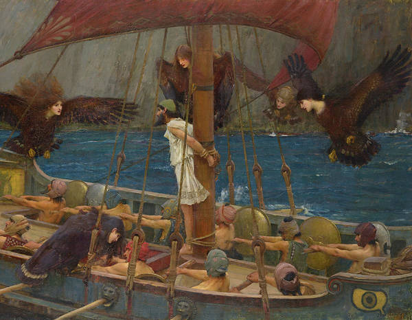 Wall Art - Painting - Ulysses And The Sirens, 1891, Detail by John William Waterhouse
