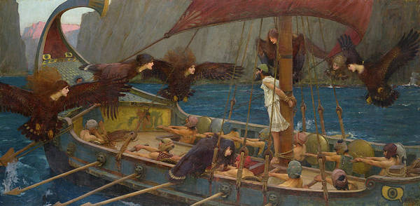 Wall Art - Painting - Ulysses And The Sirens, 1891 by John William Waterhouse