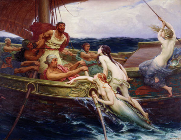 Herbert Draper Painting - Ulysses And The Sirens, 1909 by Herbert James Draper