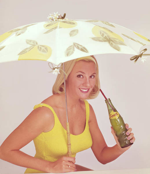 Merchandise Photograph - Umbrella Girl by Tom Kelley Archive