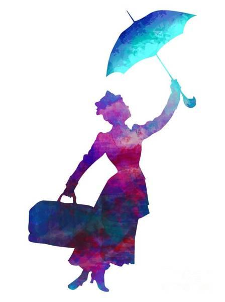 Digital Art - Umbrella Lady by David Millenheft