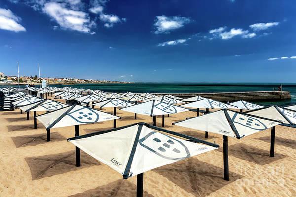 Wall Art - Photograph - Umbrella Shields At Praia Das Moitas by John Rizzuto