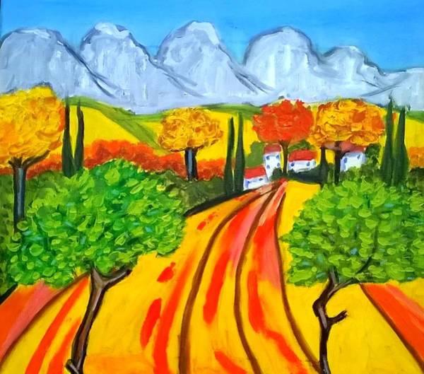 Painting - Un Champs Pres De St Remy De Provence by Rusty Gladdish