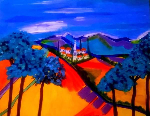 Painting - Un Village En France by Rusty Gladdish