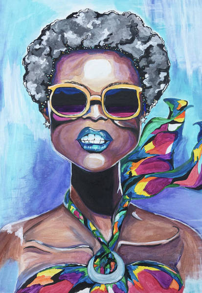 Green Painting - Unapologetic by Ebony Green