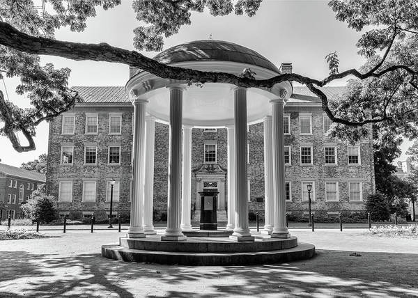 Wall Art - Photograph - Unc Old Well And South Building - #2 by Stephen Stookey
