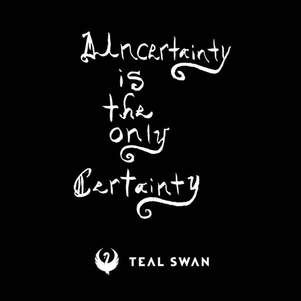 Painting - Uncertainty Quote by Teal Eye Print Store