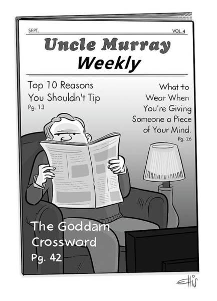 Drawing - Uncle Murray Weekly by Ellis Rosen