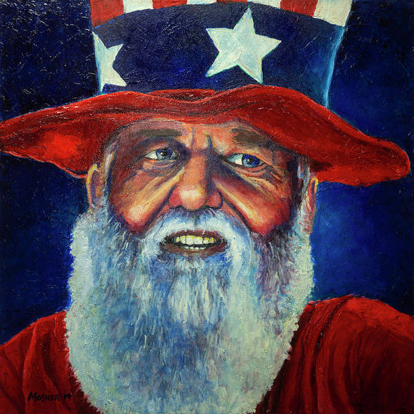 Wall Art - Painting - Uncle Sam Painting by Rick Mosher
