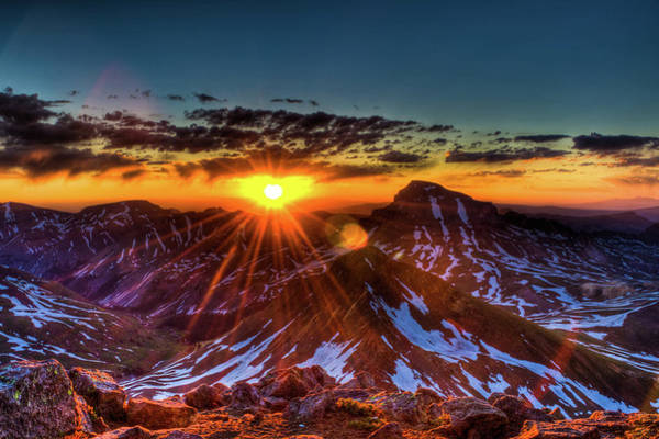 Uncompahgre At Sunrise Art Print by Photo By Matt Payne Of Durango, Colorado