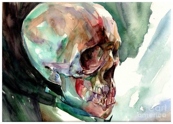 Sad Painting - Unconfirmed Skull by Suzann Sines