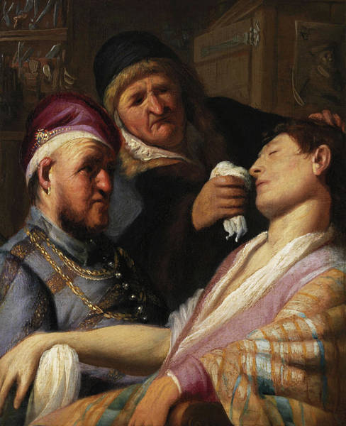 Smell Painting - Unconscious Patient, Allegory Of Smell by Rembrandt van Rijn