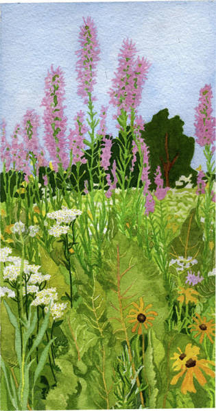 Yellow Painting - Under A Sea Of Blazing Star by Alice Ann Barnes