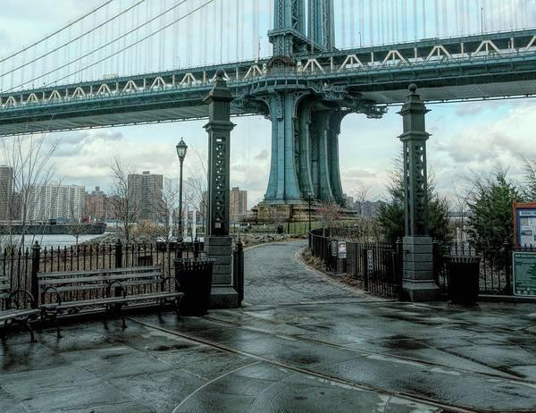 Wall Art - Photograph - Under Brooklyn Bridge Color  by Chuck Kuhn