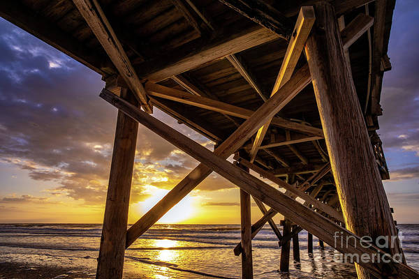 Photograph - Under Cherry Grove Pier Sunrise by David Smith