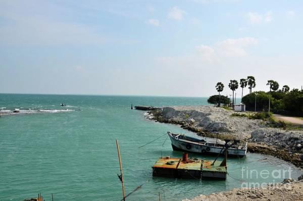 Photograph - Under Construction Harbor With Boats At Kurikadduwan Jaffna Peninsula Sri Lanka by Imran Ahmed
