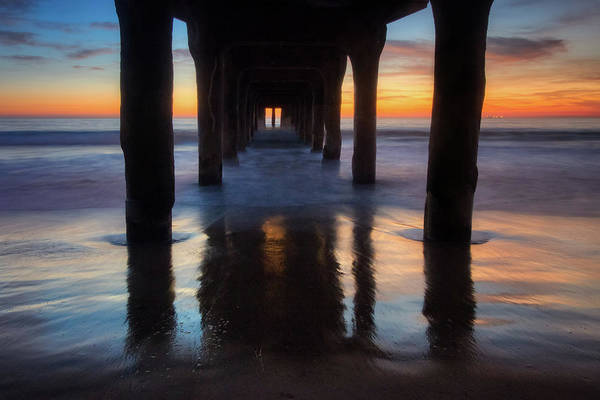Photograph - Under Manhattan Beach Pier by Andy Konieczny