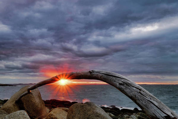Photograph - Under The Arch, Sunset by Michael Hubley