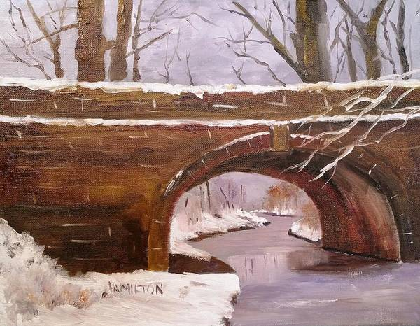 Painting - Under The Bridge by Larry Hamilton
