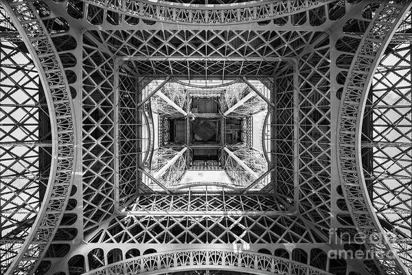Wall Art - Photograph - Under The Eiffel Tower by Delphimages Photo Creations