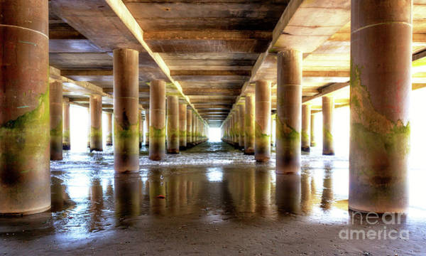 Under The Pier Photograph - Under The Steel Pier Atlantic City by John Rizzuto