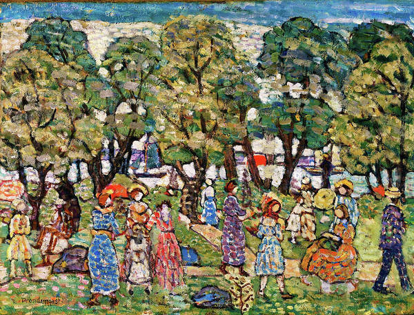 Wall Art - Painting - Under The Trees - Digital Remastered Edition by Maurice Brazil Prendergast