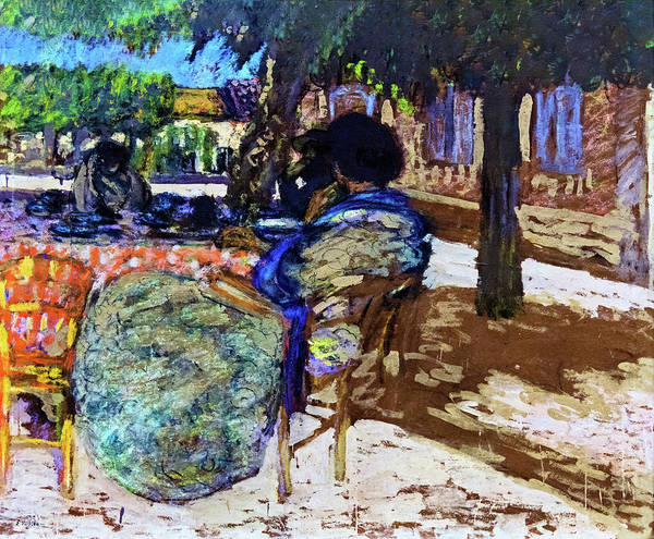 Wall Art - Painting - Under The Trees Of The Red House - Digital Remastered Edition by Edouard Vuillard