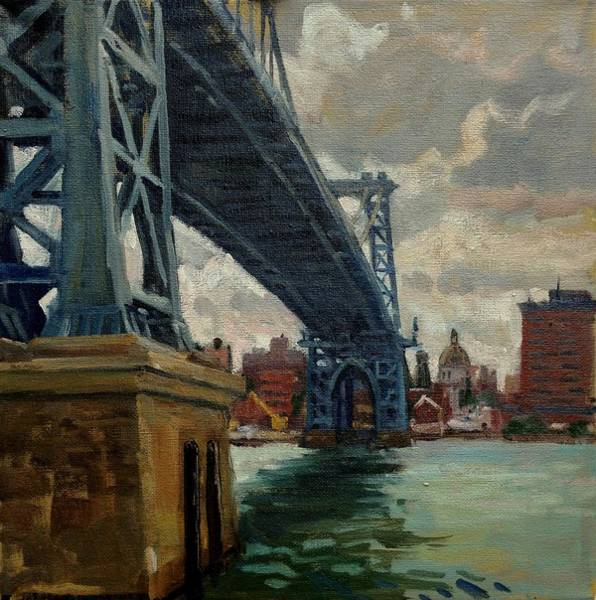 Painting - Under The Williamsburg Bridge  by Thor Wickstrom