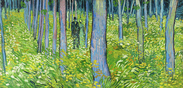 Wall Art - Painting - Undergrowth With Two Figures - Digital Remastered Edition by Vincent van Gogh