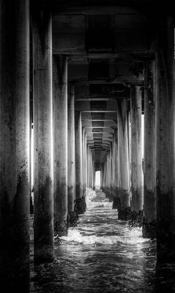 Wall Art - Photograph - Underneath Huntington Beach Pier by Art Spectrum