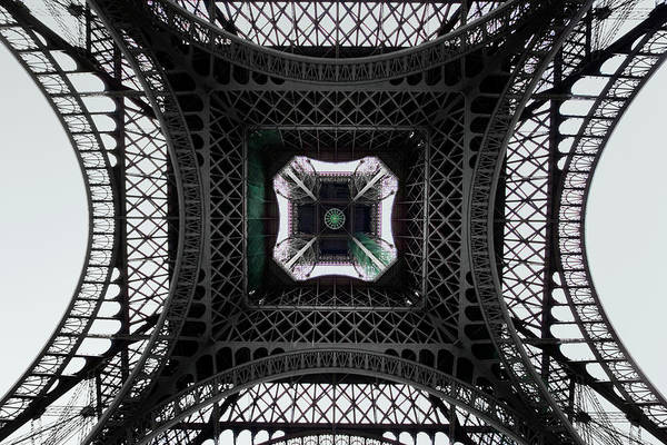 Wall Art - Photograph - Underneath Of Eiffel Tower, Low Angle by Ed Freeman