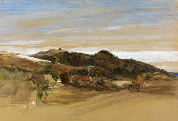 Wall Art - Painting - Underriver Hills, Near Sevenoaks, Kent - Digital Remastered Edition by Samuel Palmer
